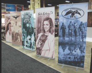 banner stands for Duck Dynasty