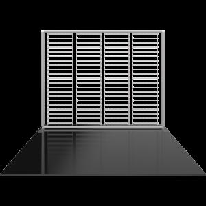 10 Ft Straight Backlit Fabric Display frame center
