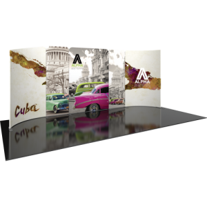 10×20 Curved Reconfigurable Trade Show Display Kit