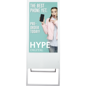 Programmable LCD Digital Banner Stand with graphic front